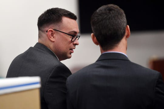 Michael Jones, 36, was found guilty of first-degree murder on Tuesday, Oct. 22, 2019, in the killing of his girlfriend, Diana Duve, in 2014. The trial will now move into the penalty phase, scheduled for November, where the same jury will decide if Jones will receive life in prison or the death penalty.