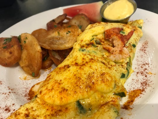 Not unexpected, Eggspectation has a large variety of egg dishes. You can get an omelet made with lobster for $19.99.