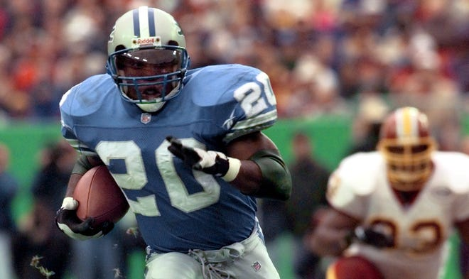 Barry Sanders ranks third all-time in rushing yards, was named a Pro Bowler 10 times and was the first player to rush for 1,000 yards in his first 10 seasons.