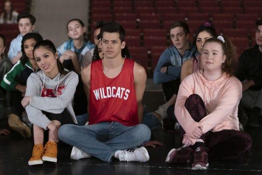 "Olivia Rodrigo, Matt Cornett and Julia Lester in ""High School Musical: The Musical: The Series."""