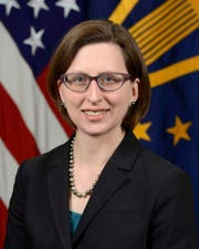 In this image provided by the Department of Defense, Deputy Assistant Secretary of Defense Laura K. Cooper is photographed in Washington.