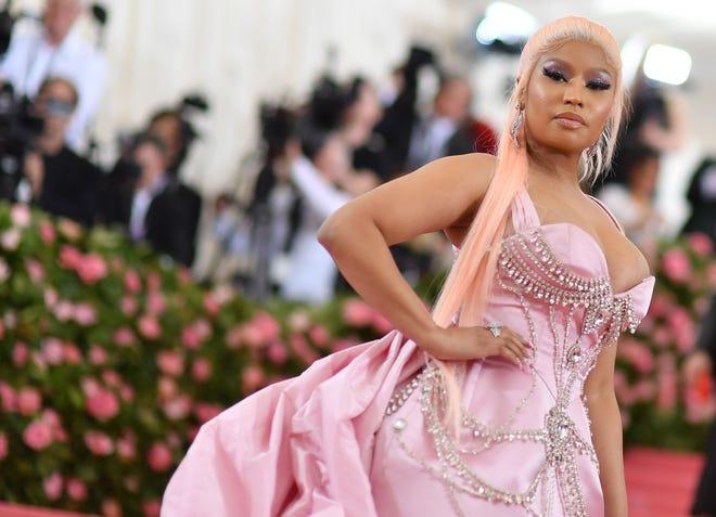 Nicki Minaj arrives for the 2019 Met Gala at the Metropolitan Museum of Art in New York on May 6, 2019.