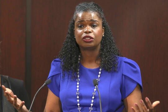 Cook County State's Attorney Kim Foxx at news conference on Aug. 27, 2019.