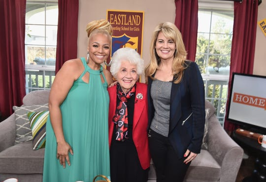 """Actresses Kim Fields, left, Charlotte Rae and Lisa Whelchel attend Hallmark's Home and Family """"Facts of Life Reunion"""" on Feb. 12, 2016 in Universal City, Calif."""