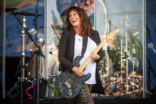 Alanis Morissette performs at the New Orleans Jazz and Heritage Festival on Thursday, April 25, 2019, in New Orleans. (Photo by Amy Harris/Invision/AP) ORG XMIT: LARP103