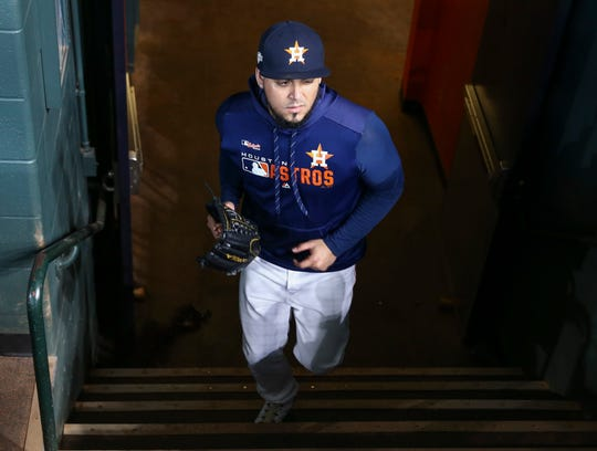 Astros relief pitcher Roberto Osuna was suspended 75 games in 2018 for violating MLB's domestic violence policy.