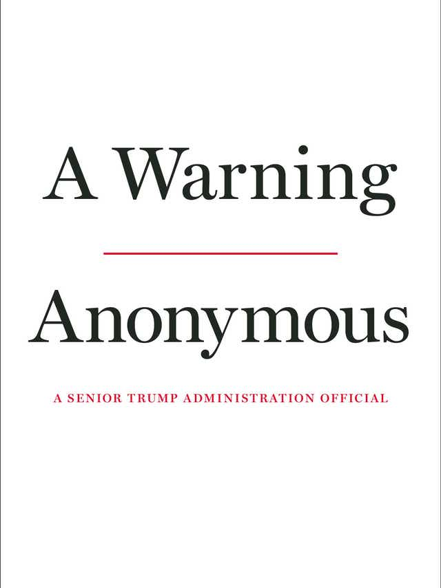 Some of the key claims from the book 'A Warning' by 'Anonymous' on the Trump administration