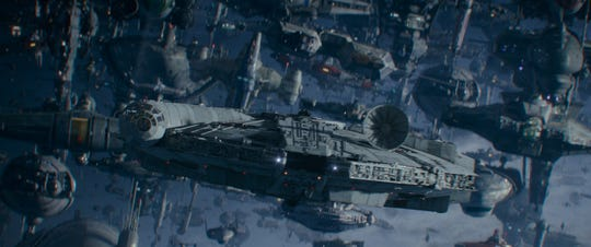 The Millennium Falcon swoops in to lead a Resistance assault in