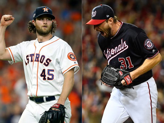 Gerrit Cole and Max Scherzer will start Game 1.