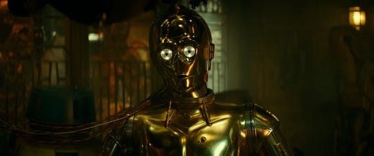 C-3PO (Anthony Daniels) has at least one emotional moment in the saga finale