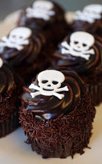 These are Death By Chocolate cupcakes. JenniCakes, a full-service bakeshop that has been in its current location in Lakehurst since December 2018, is celebrating 10 years in business this year.  Lakehurst, New Jersey. Wednesday, October 23, 2019. David Gard /Correspondent