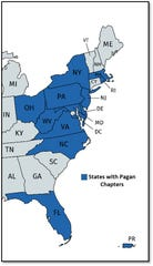 Pagan's Motorcycle Club chapters in the United States