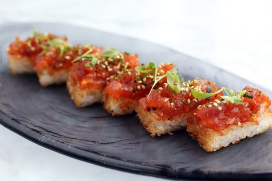 Spicy tuna crispy rice will be served at 100 Ocean in Long Branch during Jersey Shore Restaurant Week in November.
