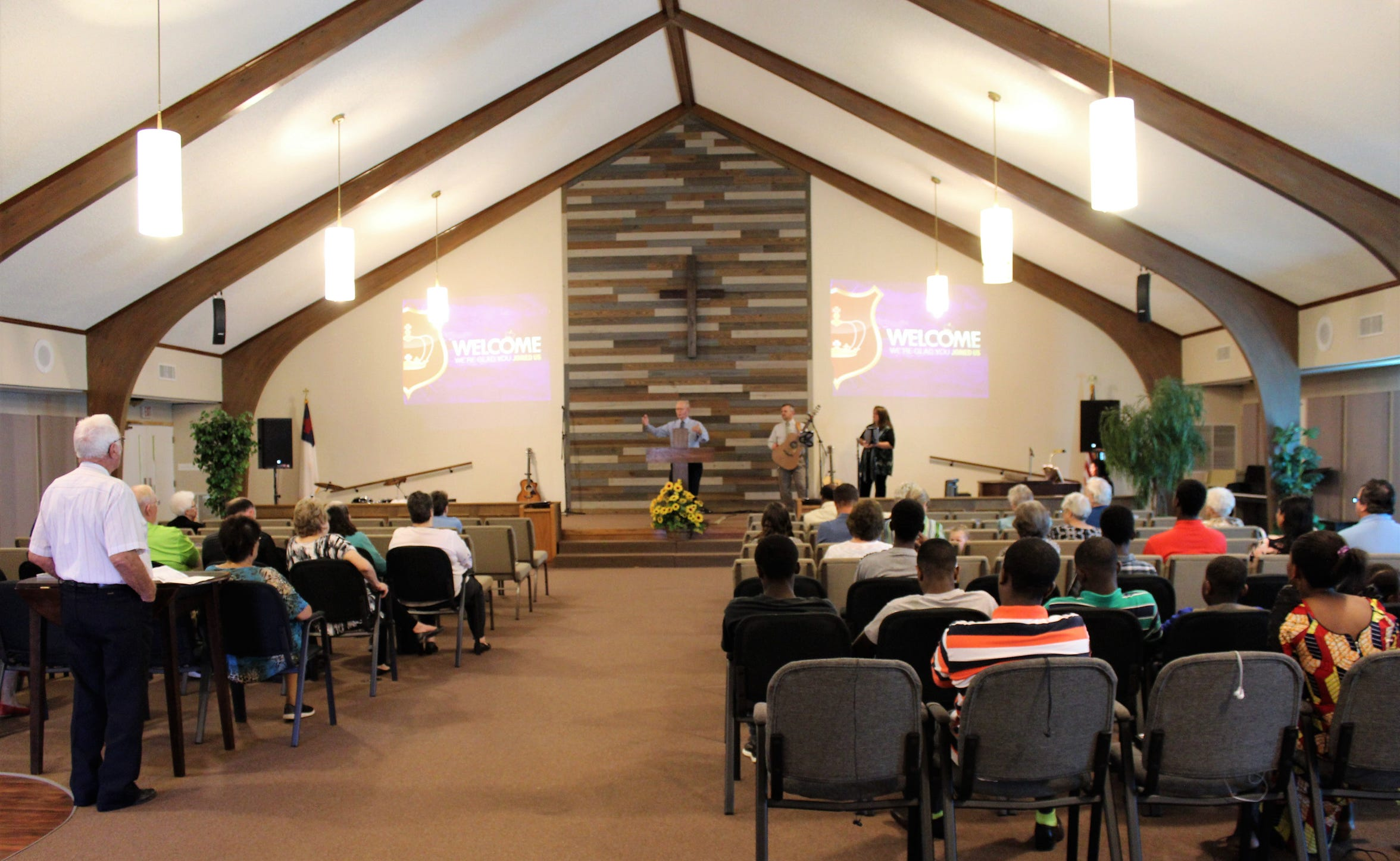 Elmcrest Baptist Church now is meeting at the south end of the North Pioneer Drive campus, allowing Rise Church to meet in the church's sanctuary at the north end. Oct 6 2019