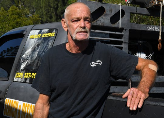 Trapper James Dean talks about the violent attack by a 200 pound wild hog earlier this week that left him with multiple injuries. He was attempting to capture the hog after it had chased after a couple of young girls in a Melbourne neighborhood.
