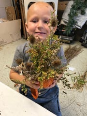 Attending his first Peas-in-a-Pod junior gardenersmeeting, Maxwell Bessinger seemed to be eagerly sailing through the activities.