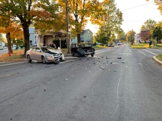Bucyrus police investigated an injury crash at the intersection of Hopley Avenue, South East Street and East Lucas Street.