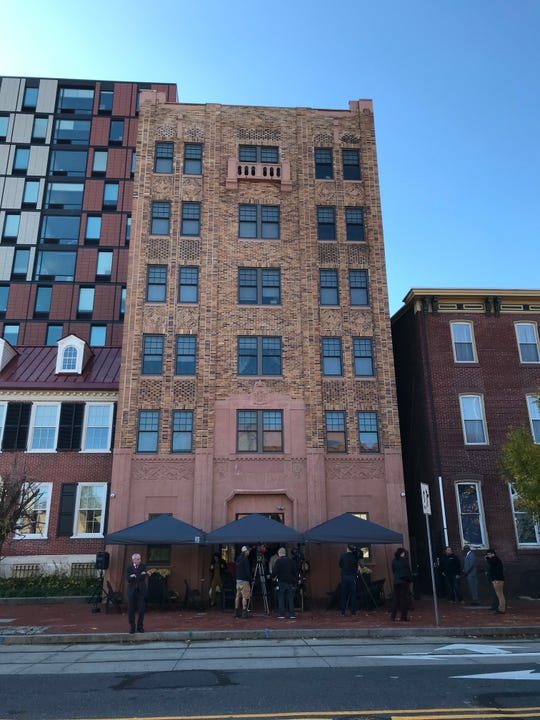 The Pierre Building on Cooper Street in Camden was built in 1932 but was vacant and deteriorating for years. It reopened Wednesday as an apartment complex.