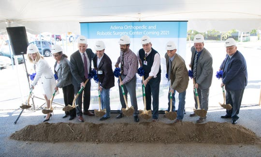 Adena Regional Medical Center held its groundbreaking ceremony for the Adena Orthopedic and Robotic Surgery Center Wednesday in Chillicothe. The project is supposed to have 20 orthopedic inpatient rooms, six operating rooms, imaging suites, and a two-story parking structure.