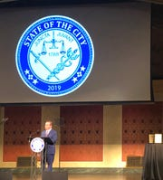 Cincinnati Mayor John Cranley speaks at the state of the city on Oct. 23.