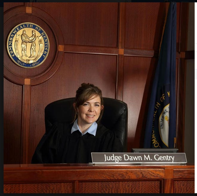 Judge Dawn Gentry poses for a portrait for her public official Facebook page.