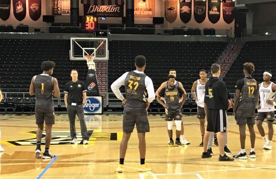 NKU at practice, as Northern Kentucky University basketball had practice October 22, 2019.