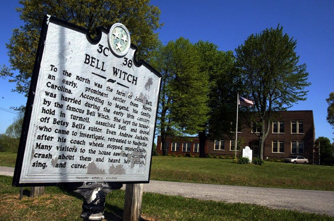The Bell Witch historical marker in Adams.