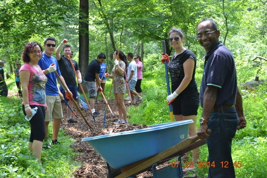 """The Somerset County Park Commission is seeking volunteers to assist with """"Sourlands Stewardship Day,"""" a climbing-focused clean-up day on Saturday, Nov.2."""