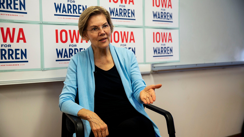 Elizabeth Warren hears directly from Iowans in selfie lines
