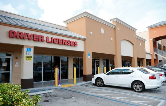 A Florida Highway Safety and Motor Vehicles drivers license service center is shown, Tuesday, Oct. 8, 2019, in Hialeah, Fla. The U.S. Census Bureau has asked the 50 states for drivers' license information, months after President Donald Trump ordered the collection of citizenship information.