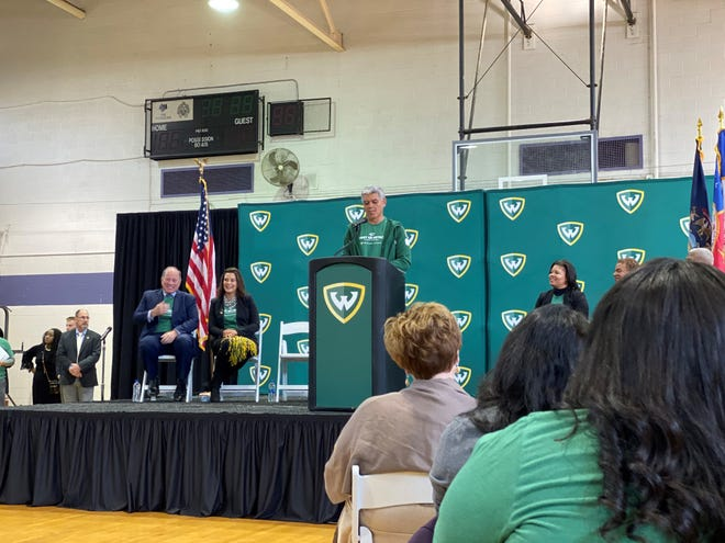Wayne State University President M. Roy Wilson announces the free tuition program for Detroiters.