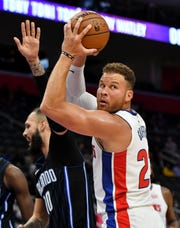 The Pistons will start the season without Blake Griffin, who will be out until early November because of lingering issues with his knee and a sore hamstring.
