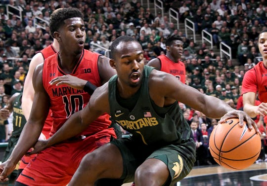 Michigan State is going over its options at shooting guard with Joshua Langford (pictured) expected to be out until January.