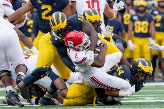 Michigan defensive lineman Kwity Paye, who missed the Illinois game with an injury, leads the Wolverines with eight tackles for loss and also has 4.5 sacks.
