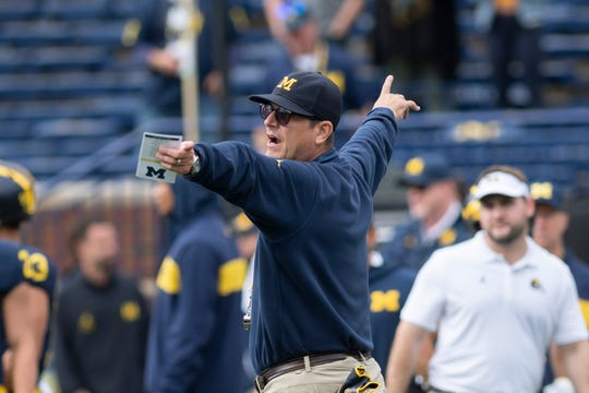 Head coach Jim Harbaugh said in a letter to parents he has no plans to leave Michigan.