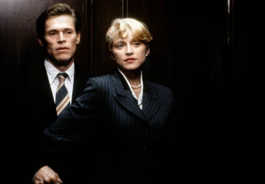 """Willem Dafoe and Madonna in """"Body of Evidence."""""""