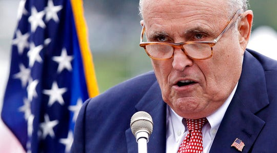 This Aug. 1, 2018, file photo shows Rudy Giuliani in Portsmouth, N.H. U.S. District Judge Christopher Cooper ordered the State Department to begin producing within 30 days documents related to the Trump administration's dealings with Ukraine. That could potentially include any correspondence with Giuliani, the president's personal lawyer and a key participant in a backchannel diplomacy effort with Ukraine, since he is not an administration official.