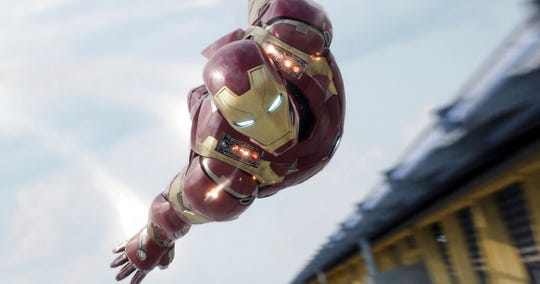 "In this image released by Disney, Iron Man, portrayed by Robert Downey Jr., appears in a scene from ""Captain America: Civil War."" Some of the greatest filmmakers in the world have misgiving about the rise of the superhero film and its outsized place in our film culture."