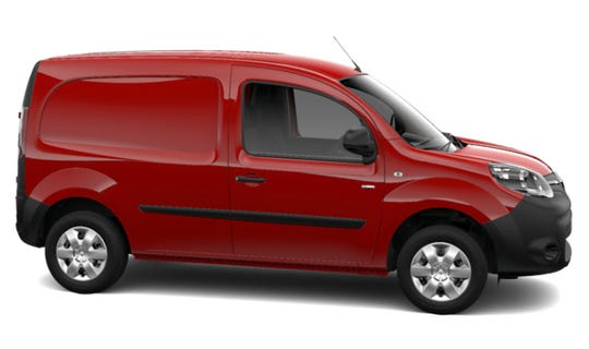 Renault's Kangoo Z.E. 33 Van shown in Carmen Red. Renault SA will offer the electric Kangoo van with added hydrogen fuel-cells before the end of the year.