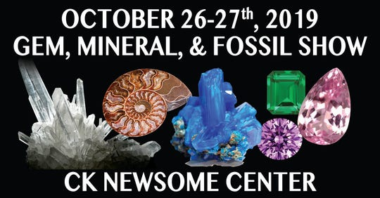 The Gem, Mineral & Fossil Show is Saturday and Sunday at the CK Newsome Center.