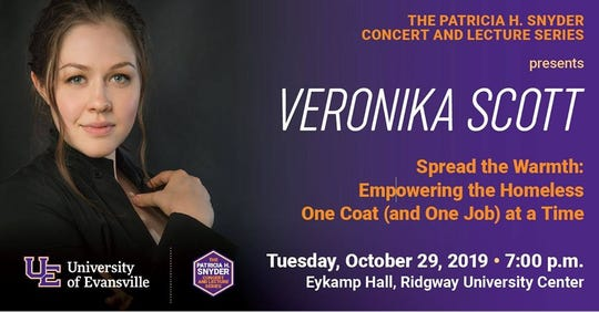 Veronika Scott will be the featured speaking for the Patricia H. Snyder Concert and Lecture Series Tuesday.