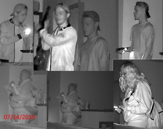 Brown County Sheriff's Office investigators say this photo shows people who burglarized a Ledgeview home on July 14, 2019.