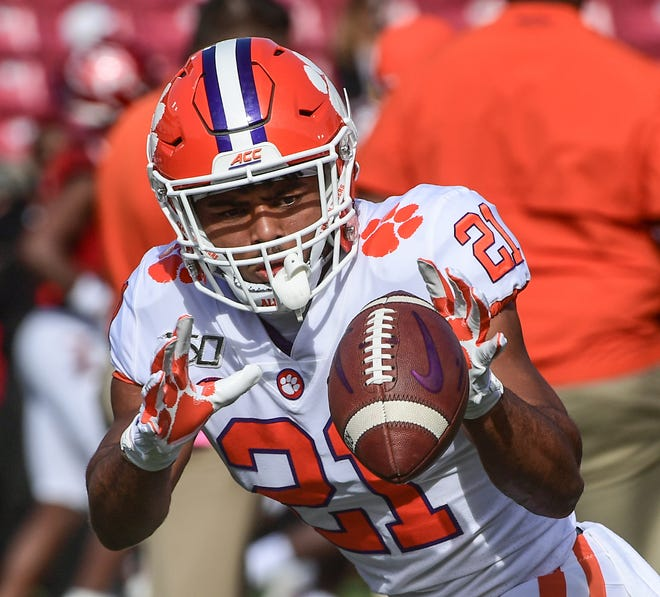 Clemson running back Darien Rencher from T.L. Hanna High School in Anderson has become one of the Tigers' main voices in social issues.