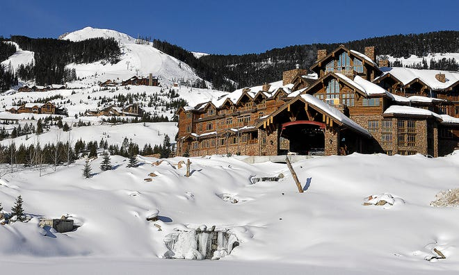 This undated file photo shows the Yellowstone Club near Big Sky. Five former workers are suing the club and a hospitality staffing agency alleging they and more than 100 other workers recruited from Jamaica were discriminated against and paid less than non-Jamaican workers doing the same job. The exclusive ski resort counts Bill Gates, Justin Timberlake and Tom Brady as members.