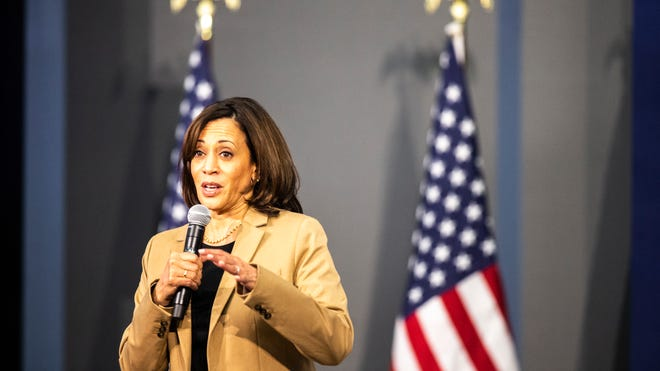 Election 2020 Campaigning In Iowa Kamala Harris Gets Blunt On Race