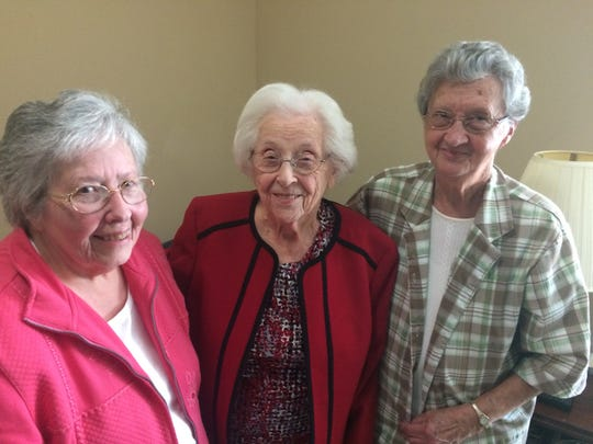 """The Three Stooges"" (from left) – Glenda Beeler, Thelma Davis and Ruth Zachary – give life to Morning Pointe Assisted Living. 10/2019"