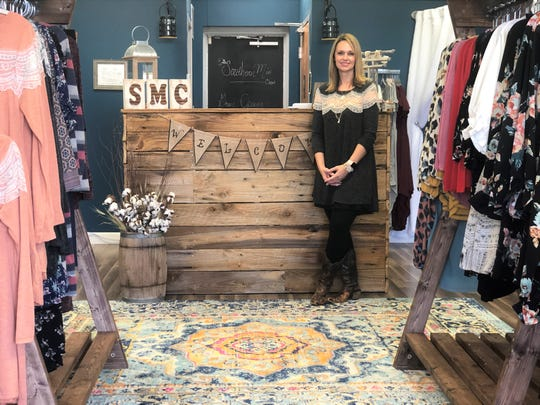 Leslie Patterson in her new boutique, Southern Miss Closet in Halls, on Oct. 22, 2019