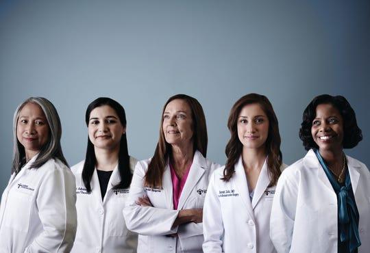 [From left to right: Dr. Eli Balbastro, Dr. Sweekriti Adhikari, Dr. Reatha Williams, Dr. Sarosh Zafar, Dr. Cheryl Randall]