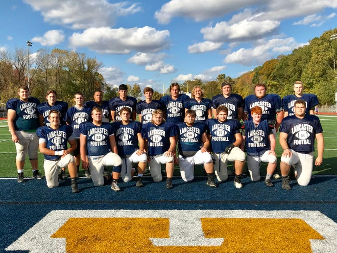 Lancaster faces Pickerington North on Friday at Fulton Field and it will the Golden Gales' senior Night. Senior football players are, front row from left, Dominic Carpenter, Drew solt, Tristen Rothenberger, Matthew Peters, Noah Burnside, Simon Voight, Sage Hill and Quinton Burke. Back row, L-R: Kirk Hamilton, Carson Raniner, Cole Smith, Devon Pearson, Casey Finck, Max Hamilton, Curtis Young, Brock Thomas, Owen Snyder, Dalton Golden and Evan Cruit.