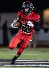 Pinckney's Cam Gaden leads Livingston County with six touchdown catches.